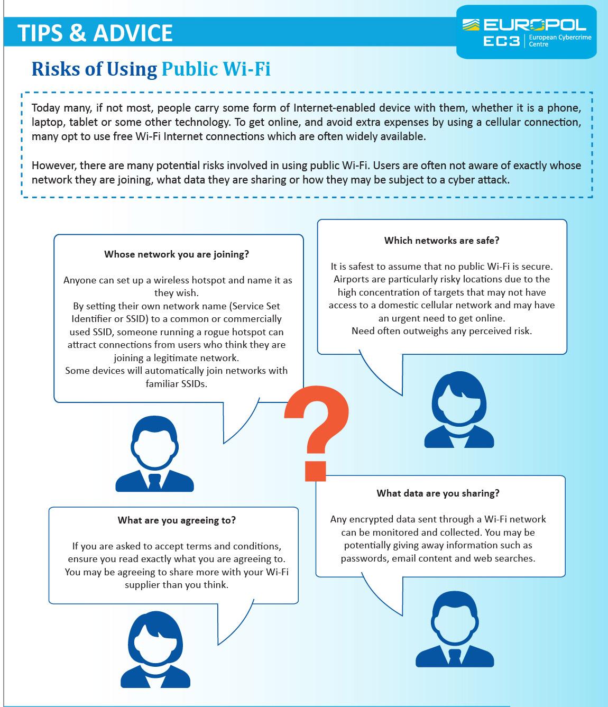 Risks of using public Wi-Fi | Europol