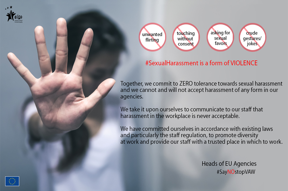 Zero tolerance towards sexual harassment
