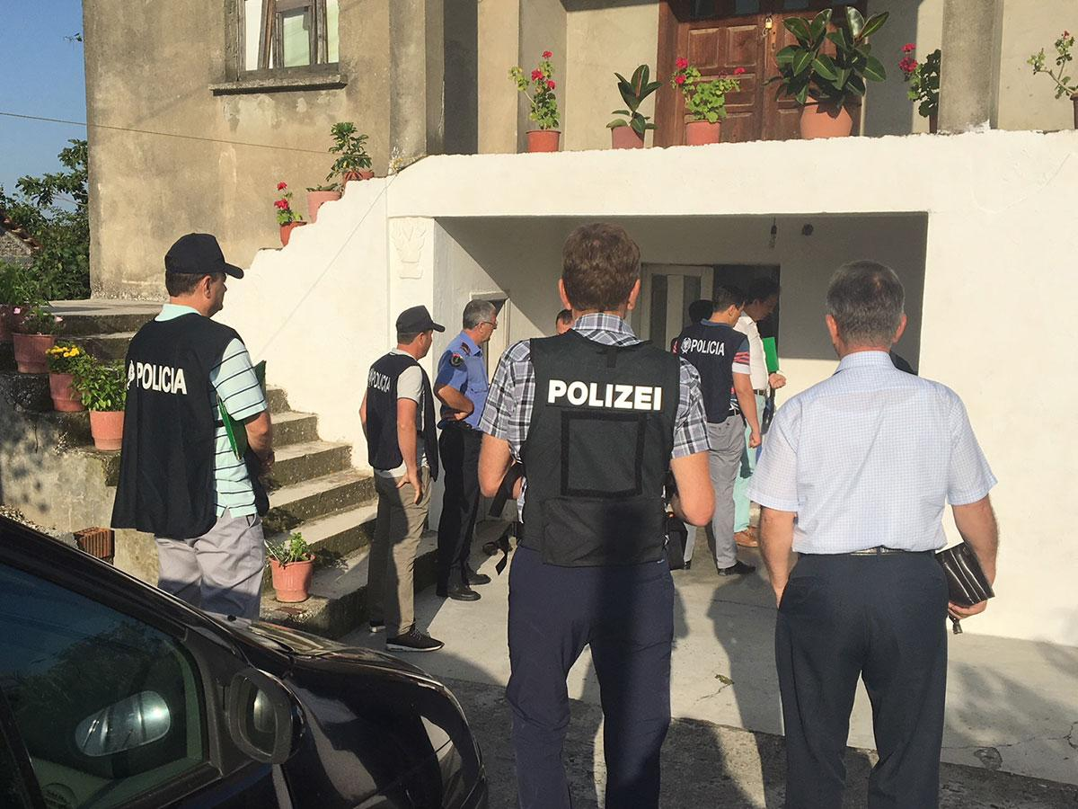 as part of a joint investigation into a series of domestic burglaries in germany and france albanian police officers in collaboration with their german