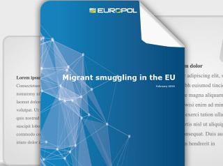Migrant smuggling in the EU - Report cover photo