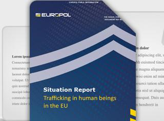 Trafficking in human beings in the EU Report cover photo