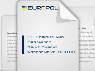 EU Serious and Organised Crime Threat Assessment (SOCTA 2013) Cover