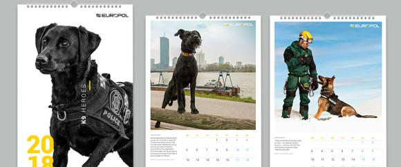 "Europol K9 ""Dogs as Heroes"" 2018 calendar"